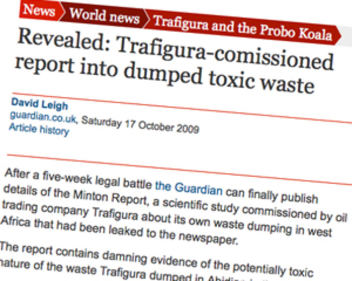 Trafigura and the Minton Report: 'Super injunction' was lifted after