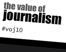 Value of Journalism conference logo