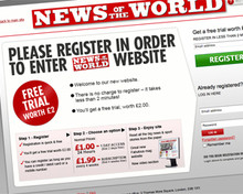 news of the world paywall