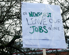 Newsquest protest