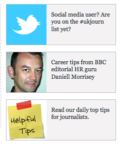 Tips section on Journalism.co.uk