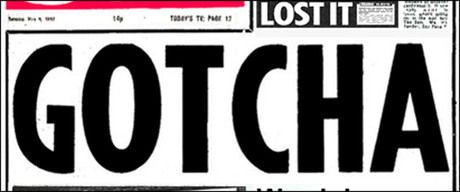 The 'Gotcha' headline was first used by the Sun in 1982 to report the sinking of the Belgrano