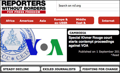 RSF homepage screenshot