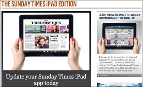 Sunday Times iPad app wins Cross Media award | Media news