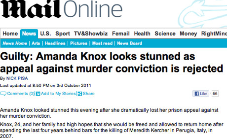 Daily Mail Amanda Knox 2