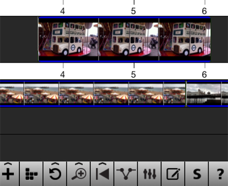 iPhone video editing - timeline and cutaways
