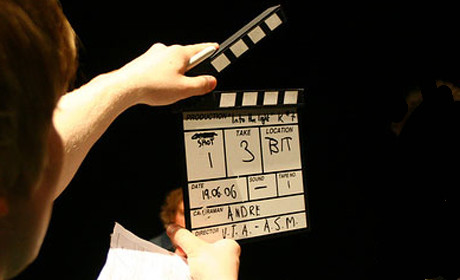 Clapperboard video