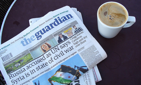 Guardian and coffee