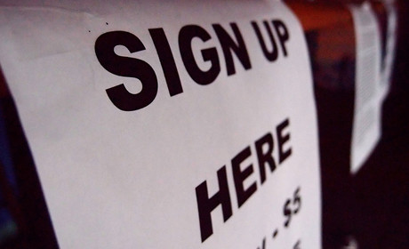 Sign up sign