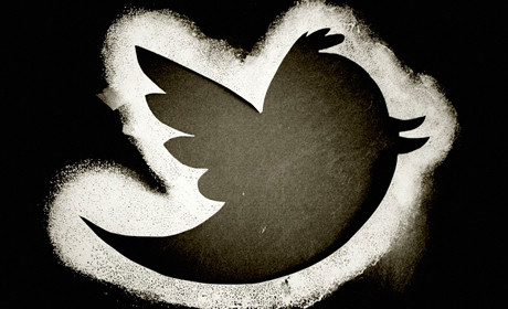 Twitter bird black and white