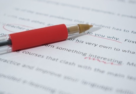 red pencil grammar mistakes correcting