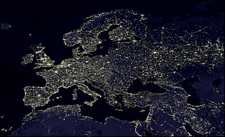 europe night light