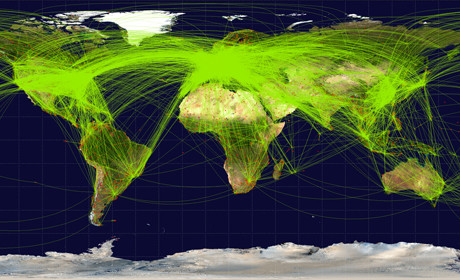 global flight paths