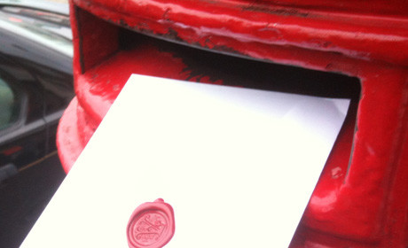 red box post letter
