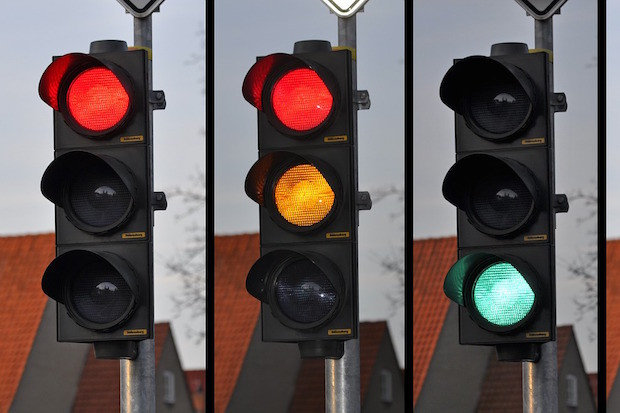 traffic lights red yellow green
