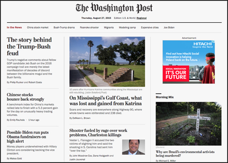 washington post homepage