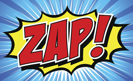 Zap pow cartoon