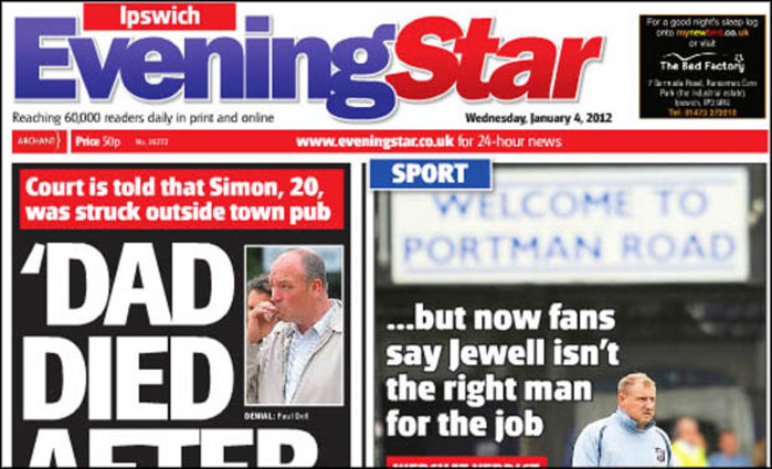 14 job cuts at Archant Suffolk in changes to dailies | Media