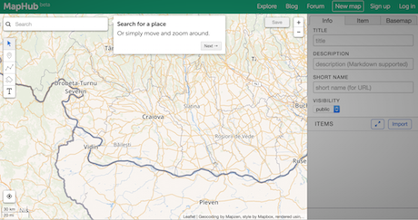 How To Create Interactive Maps With MapHub Media News - Create a pinpoint map