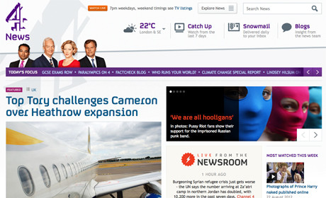 Channel 4 News site design 2