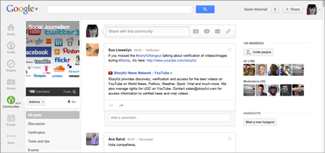 Communities Google Plus
