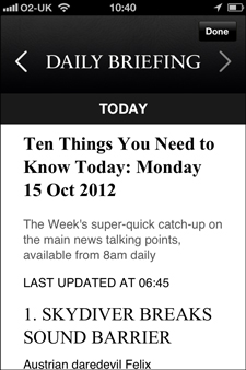 The Week Daily Briefing iPhone