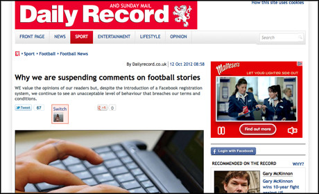 Daily Record site