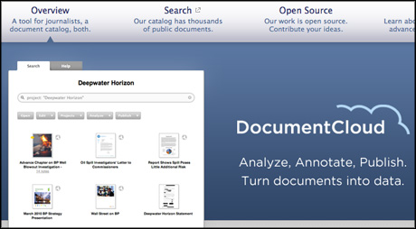 DocumentCloud screengrab