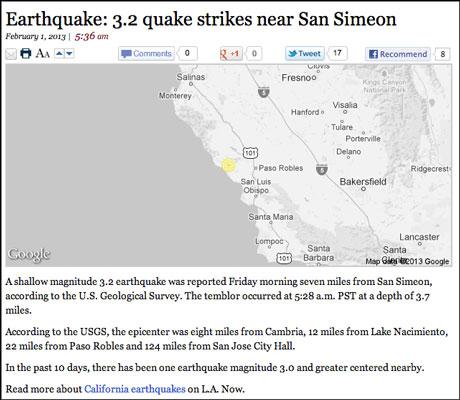 write a report on earthquake
