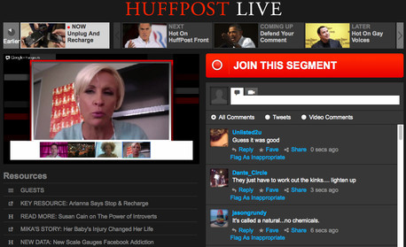 Huffington Post Live screen