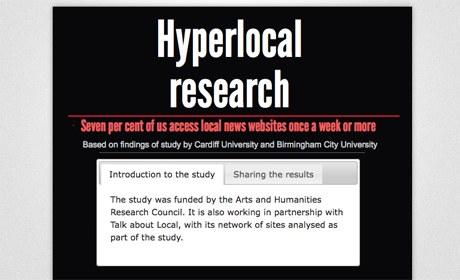 Hyperlocal study Piktochart