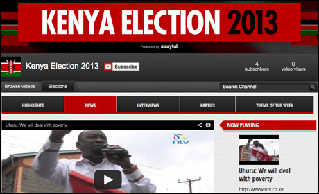 Kenya elections YouTube channel