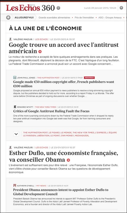 France's Les Echos launching business news aggregation