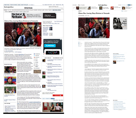 NYTimes.com redesign before and after