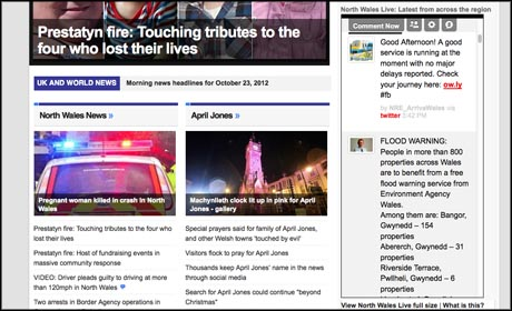 North Wales Daily Post live screen