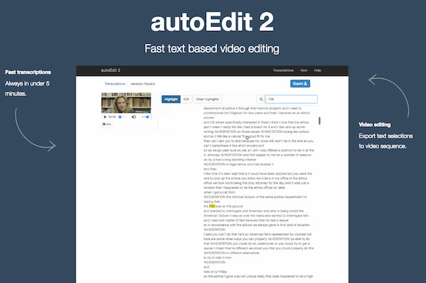 Tool for journalists: AutoEdit, to edit videos quicker using