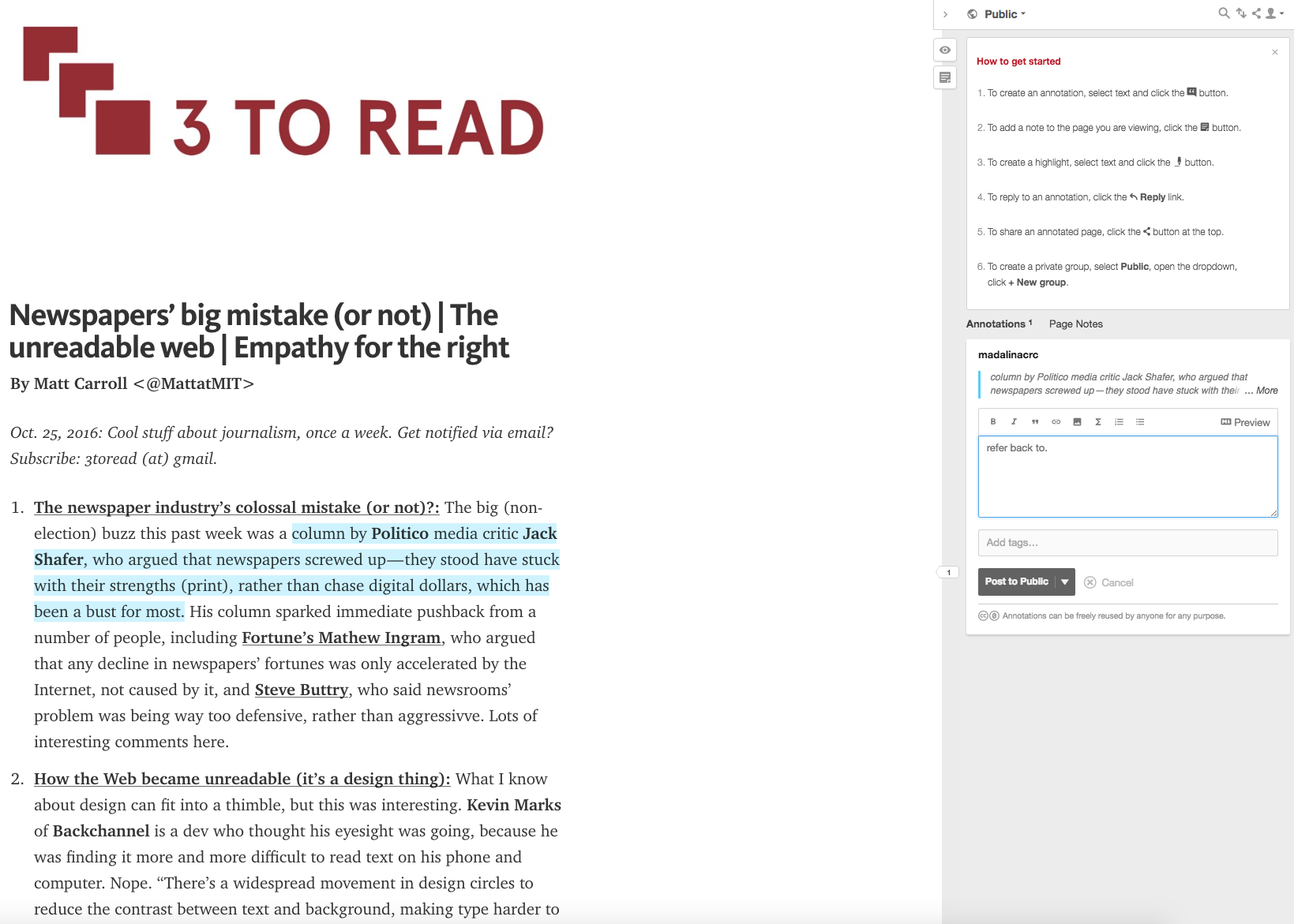 Highlights Are Marked In Yellow And Are Only Visible To The Author, While  Annotations Include Text Formatting Options And Can Be Public, Private Or  Shared