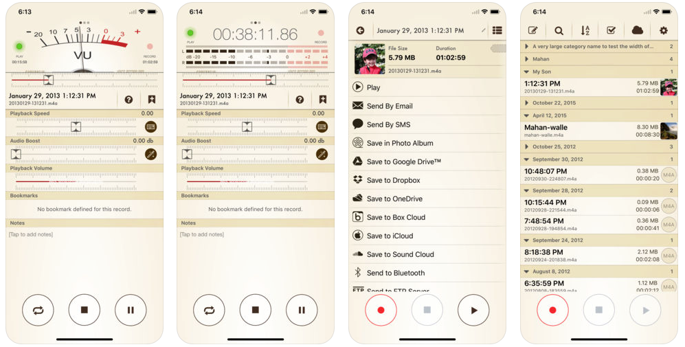 App for journalists: Voice Record Pro 7, for capturing