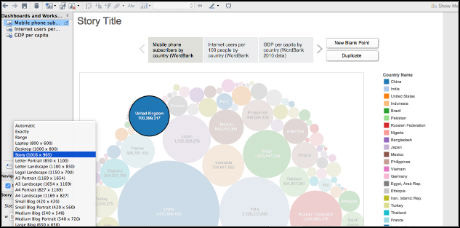 How to: create data visualisations using Tableau's Story