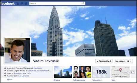 Vadim Lavrusik Facebook page border
