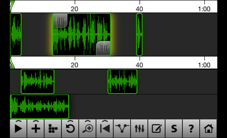 iPhone audio editing