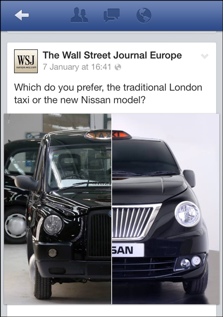 WSJ London cab