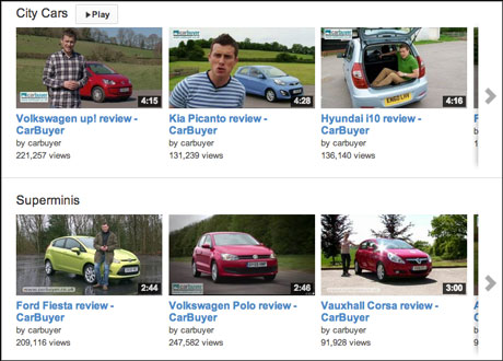 CarBuyer YouTube channel