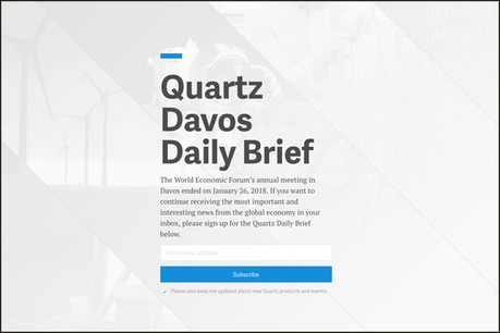 Quartz's Davos Daily Brief is the latest in a series of pop-up