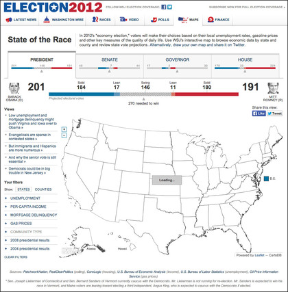 election 2012 wall street journal