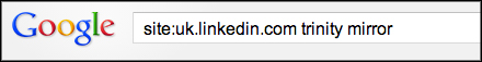 LinkedIn site search