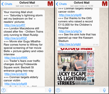 Oxford Mail WhatsApp