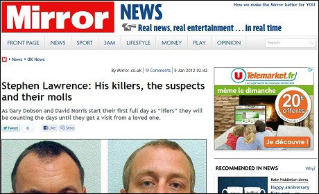 Daily Mirror: breached editors' code of practice by identifying child