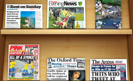 Newsstand local newspapers new