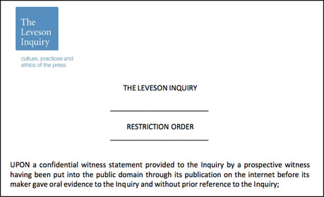 Guido Fawkes Leveson order